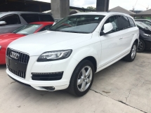 2011 AUDI Q7 3.0 TFSi Petrol 333hp Quattro 8 Speed Smart Entry Push Start Button MMi 3 Automatic Power Boot BOSE Surround Power Seat Xenon LED Paddle Shift Steering Reverse Camera Bluetooth Connectivity Unreg
