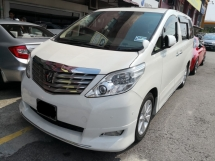 2011 TOYOTA ALPHARD 3.5 GL Edition Full Spec TRUE YEAR MADE 2011 Cream Pilot Leather Home Theater Sunroof 3 Cams 2014