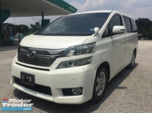 2013 TOYOTA VELLFIRE 2.4Z PLATINUM SELECTION FULL SPEC TIPTOP FACELIFT MODEL