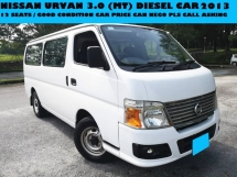 2013 NISSAN URVAN 3.0 (MT) DIESEL CAR 12SEATS FULL LEATHER SEAT GOOD CONDITION CAR PRICE CAN NEGO PLA CALL ASKING