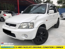 2001 HONDA CR-V CR-V FACELIFT MODEL ONE MALAY OWNER RAYA PROMOTION  NO OFF ROAD CAR TIP TOP CONDITION WEEKEN USED ONLY