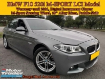 2016 BMW 5 SERIES F10 520i 2.0 (A) M SPORT LCI Model Under BMW Warranty N Free Service