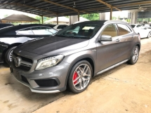 2015 MERCEDES-BENZ GLA GLA45 AMG Edition 4MATIC Smart Entry Push Star Button Panoramic Roof Memory Seat Power Boot Multi Function Paddle Shift Steering Distronic Pre Crash Intelligent LED Reverse Camera Bluetooth Connectivity Unreg
