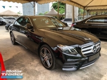 2017 MERCEDES-BENZ E-CLASS E200 E220d AMG Edition 2.0 Turbocharged 9G-Tronic Multi Ambient Package Adaptive Intelligent LED Hi Beam Motion Multi Function Paddle Shift Mercedes Benz Command Parktronic Reverse Camera Bluetooth Connectivity Unreg