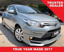 2017 TOYOTA VIOS 1.5 E (A) SILVER ENGINE TRD SKIRTING