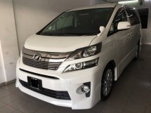 2012 TOYOTA VELLFIRE 2.4 ZG Home Theater Registered 2017