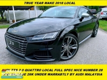 2016 AUDI TTS LOCAL LOCAL UNDER WARRANTLY  NUMBER PLATE 28 SUPER LOW MILEAGE 26KM  PLATE 300HP  DEMO CAR