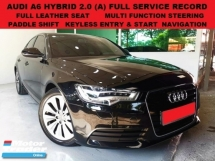 2013 AUDI A6 HYBRID 2.0 TFSI (A) FULL SERVICE RECORD PADDLE SHIFT SUNROOF NAVIGATION LEATHER SEAT MEMORY SEAT BMW