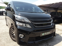 2012 TOYOTA VELLFIRE 2.4Z G EDITION LOW D/P ACCIDENT FREE