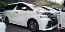 2015 TOYOTA VELLFIRE ZG 2.5CC / PILOT SEATS / JBL SOUND SYSTEM / READY STOCK NO NEED WAIT / TIPTOP CONDITION