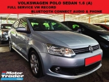 2013 VOLKSWAGEN POLO 1.6  SEDAN (A) FULL SERVICE RECORD BLUETOOTH TIP TOP CONDITION CITY VIOS