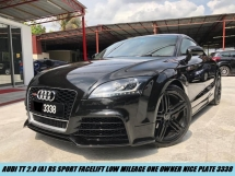 2011 AUDI TT 2.0 RS Sport Facelift One Owner Nice Plate 3338 Low Mileage
