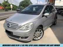 2008 MERCEDES-BENZ B-CLASS B170 Local Full Spec Sunroof Lady Owner Low Mileage Tip Top Condition