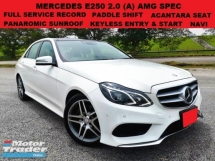 2014 MERCEDES-BENZ E-CLASS E250 2.0 (A) AMG SPEC F.S.R PANOROMIC SUNROOF ALCANTARA MEMORY SEAT PADDLE SHIFT KEYLESS ENTRY & STA