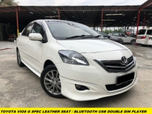 2015 TOYOTA VIOS 1.5G (AT) FULL SPEC LEATHER SEAT WITH DOUBLE DIN PLAYER BLUTOOTH USB
