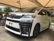 2018 TOYOTA VELLFIRE 2.5 ZG LATEST FACELIFT NAPPA LEATHER PRE CRASH LANE KEEP ASSIST 2018 JPN UNREG