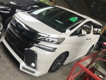 2016 TOYOTA VELLFIRE 2.5 ZG ADMIRATION BODYKIT ALPINE SOUND MEMORY ELECTRIC SEAT 2016 UNREG