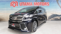 2016 TOYOTA VELLFIRE 2.5 ZG SUNROOF ROOF MONITOR RAYA PROMOTION