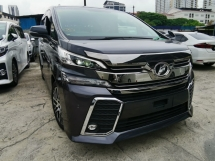 2016 TOYOTA VELLFIRE 2.5 ZG SPEC GREY ROOF MONITOR UNREG