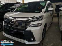 2016 TOYOTA VELLFIRE 2.5 ZG SUNROOF ROOF ALPINE MONITOR UNREG