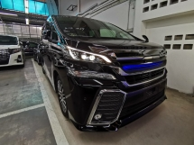 2017 TOYOTA VELLFIRE 2.5 ZG SUNROOF FULL LEATHER SEATS MODELISTA AERO GRILL UNREG