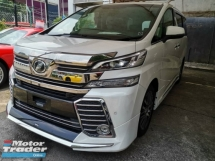 2016 TOYOTA VELLFIRE 2.5 ZG FULL SPEC MODELISTA BODYKIT JBL SURROUND CAM PRE CRASH UNREG