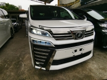 2018 TOYOTA VELLFIRE 2.5 ZG NEW FACELIFT SUNROOF FULL LEATHER SEATS 3EYE LED HEADLIGHT PRE CRASH UNREG