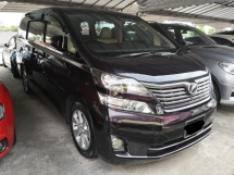 2009 TOYOTA VELLFIRE 3.5 VL TRUE YEAR MADE 2009 Pilot Seat Home Theater Full Spec NIce Reg No 98