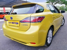 2011 LEXUS CT200H HYBRID LUXURY 1.8 AUTO - NAVE - MEMORY SEAT - FULLSERVICE RECORDLEXUS -ORIGINAL MILEAGE- 4NEW TYRE - FULL LOAN - RM99 DOWNPAYMENT ONLY...