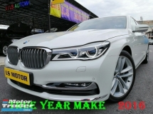 2016 BMW 7 SERIES 740LI  3.0 AUTO G12 MODEL - CKD BRAND NEW AUTO BAVARIA - FULL SERVICE RECORD - 99.9% NEW CAR CONDITION - REAR ENTERTAINMENT -LIKE NEW - VIEW TO BELIEVE....