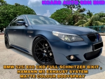 2006 BMW 5 SERIES 525I E60 AC SCHNITZER B/KIT M5 EXHAUST MATTE COLOUR