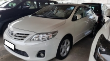 2012 TOYOTA COROLLA ALTIS 1.8 E SPEC (A) REG 2012, CAREFUL OWNER, LOW MILEAGE DONE 99K KM, SELDOM USE, 100% ACCIDENT FREE, 16