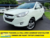 2012 HYUNDAI TUCSON 2.4 FULL SPEC SUNROOF DVD PLAYER LEATHER SEAT 1 LADY OWNER TIPTOP CONDITION