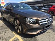 2016 MERCEDES-BENZ E-CLASS E250 CBU 28K KM Full Service Under Warranty Registered 2017