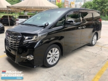2015 TOYOTA ALPHARD 2.5 SA Edition 360 View Surround Camera 7 Seat Automatic Power Boot 2 Power Door Intelligent LED Smart Entry Multi Function Steering Auto Cruise Bluetooth Connectivity 9 Air Bag Unreg