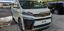 2018 TOYOTA VELLFIRE 2.5ZG Edition ACTUAL YEAR MAKE SST INCLUDE