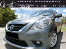 2012 NISSAN ALMERA 1.5 VL(A)F-LOAN / FULL SPEC / PUSH START / TIPTOP CONDITIONS / WEEKEND CAR / FULL SERVICE NISSAN