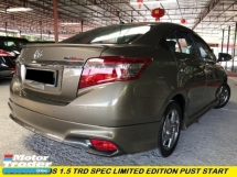 2016 TOYOTA VIOS 1.5 TRD SPORTIVO SPEC PUST START ONE OWNER ORIGINAL PAINT LOW MILEAGE TIPTOP