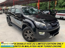 2017 ISUZU D-MAX 2.5L 4X4 DOUBLE CAB  DIABLO VGS TURBO (A) NEW FACELIFT MODEL LIMITED EDITION LIKE NEW CAR