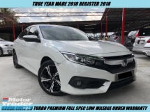 2018 HONDA CIVIC TURBO FULL SPEC UNDER WARRANTY LOW MILEAGE