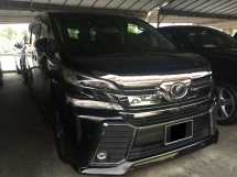 2015 TOYOTA VELLFIRE 2.5 ZG Full Sepc Registered 2016