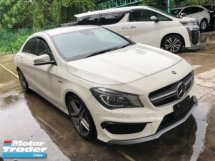 2015 MERCEDES-BENZ CLA Unreg Mercedes Benz CLA45 2.0 AMG Camera 4MATIC Turbo Keyless Push Start 7G Paddle Shift