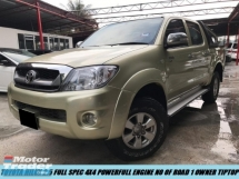 2010 TOYOTA HILUX DOUBLE CAB 2.5G FULL SPEC 4X4 POWER ENGINE NO OFF ROAD TIPTOP CONDITION 1 OWNER