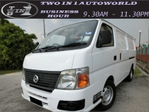 2010 NISSAN URVAN 3.0 (M)F-LOAN / LOW MILEAGE / WELL MAINTAINED VAN / 1OWNER / TIP TOP CONDITIONS LIKE NEW
