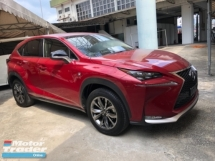 2016 LEXUS NX Unreg Lexus NX200T 2.0 F Sport Paddle Shift Camera PowerBoot Push Start Full Bodykit