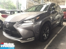 2015 LEXUS NX 200 T F SPORT UNREGISTER.TRUE YEAR MADE CAN PROVE.PADDLE SHIFT.RED LINE BUCKET MEMORY SEAT.SPORT RIM.i DRIVE.SIDE N REAR CAMERA.MULTIFUNCTION STEERING N ETC.FREE WARRANTY N MANY GIFTS