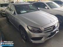2015 MERCEDES-BENZ C-CLASS C200 AMG JAPAN SPEC REAR CAMERA PRE-CRASH UNREG LOCAL AP