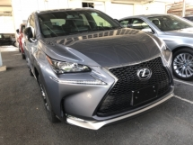 2015 LEXUS NX Unreg Lexus NX200T 2.0 Turbo F Sport Paddle Shift PowerBoot Camera Keyless Push Start