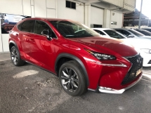 2015 LEXUS NX NX200 NX200t F Sport 2.0 Turbocharged 235hp Pre Crash Head Up Interface Memory Bucket Seat Smart Entry Automatic Power Boot Multi Function Paddle Shift Steering Auto Hold Start Stop Engine Intelligent LED Bluetooth Unreg