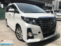 2015 TOYOTA ALPHARD 2.5 SA 2 POWER DOOR 7 SEATER AUTO CRUISE  UNREG 1 YEAR WARRANTY